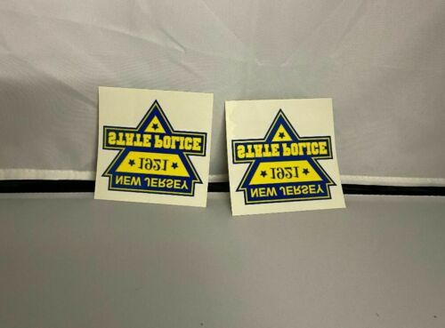 2 NJ New Jersey State Police *1921* Decals PBA DEA 2020