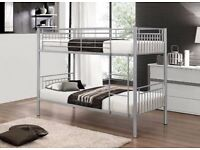 Quality Beautiful | Next Or Select Day Delivery | Metal Bunk Bed with Mattresses