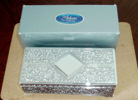 Silver Plated Juliana Collection Trinket/Keepsake Box