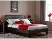 🎉Furniture Free🎉(4ft6inch) Double & (5ft)King Size Leather Bed Frame W Opt Mattress-Order Now