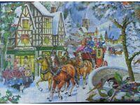Jigsaw puzzle. Big 500 piece by H.O.P. title ;Snow Coach. 8 similar £5.00 each