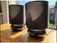 LAMPS / black pewter bedside lamps - RRP £90