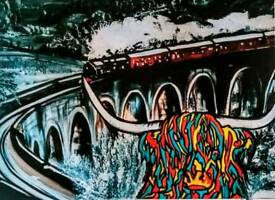 Glen Finnan Viaduct painting