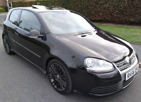 IMMACULATE BLACK 2006 VW GOLF R32 MANUAL 3 DOOR LOW MILES 97K FVWSH FULLY LOADED RECARO WINGBACKS