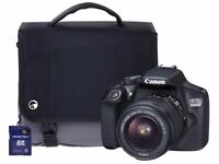 Canon EOS 700D 18-55mm SLR Camera with 16GB memory card and bag