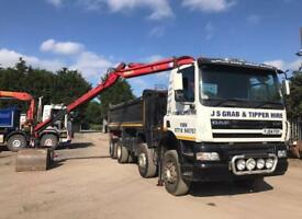 8x4 daf tipper grab