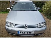 2001 VOLKSWAGEN Golf GT TDI, 3 DOOR, SILVER, FULL BLACK LEATHER INTERIOR, ONLY 98,713 MILES