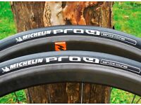 2 x Michelin Pro4 Service Course Road Racing Bike Tires V.G.C. 700c x 23mm RRP £52