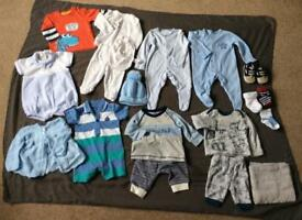 Bundle of baby boy, newborn / first size clothes Vgc