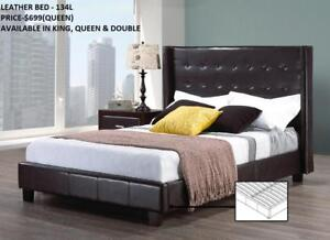 LEATHER BEDS ON SALE!!! SPECIAL REDUCED PRICE (IF41)
