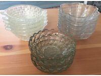 For Sale Glass Dessert Plates