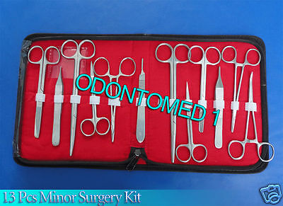 13 Pcs Minor Surgery Suture Surgical Instruments Set Kit