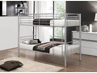 Modern 3ft Single Metal Bunk Bed Frame 3FT Single Metal Frame 2 Person for Kids And Adult Bed