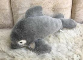 Large dolphin stuffed toy