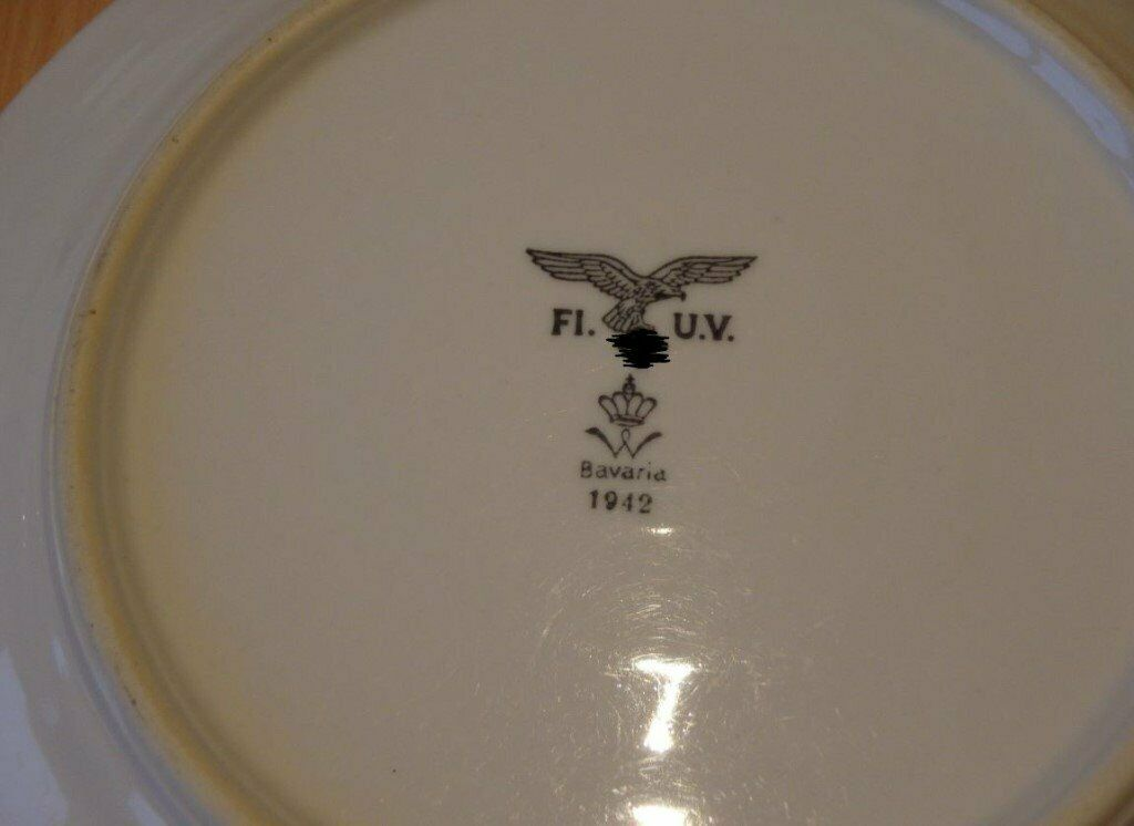 Pair of German WW2 Luftwaffe Mess Hall Plates - Bavaria 1942 | in Epsom,  Surrey | Gumtree