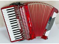 Italian 72 Bass - 3 Voice Piano Accordion - Light Weight with New Magnetic MIDI System