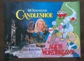 alice in wonderland / candleshoe ' disney double bill cinema poster