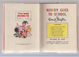 Noddy Book 6 - Noddy Goes to School Enid Blyton 1952 1st Edition Free UK p+p!