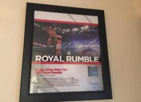 WWE RANDY ORTON ROYAL RUMBLE 2017 FRAMED PLAQUE NUMBER 19 OF 199