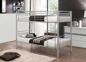 **100% GUARANTEED PRICE!**BRAND NEW Single Metal Bunk Bed With Mattresses-Same Day Delivered