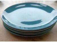 Blue Poole Moon small dinner plates