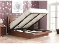 Isabella Walnut Wooden Ottoman Bed Frame £400 ONO