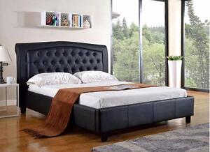 Black or White  Platform Bed  --- FREE DELIVERY !