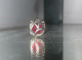 Red Rose Crystal Charm 🌹