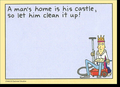 Mans Home Is Castle Funny Sticky Notes Post It Note Pad By Oatmeal Studios