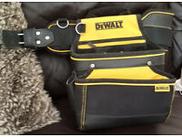 DeWalt belt pouch and holster, worn but not used in action