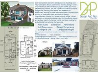 Planning permissions, Architectural drawings, Rear/ Side Extensions and Loft Conversions