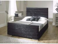 *FAST AND FREE UK DELIVERY* Sarah Luxury Velvet Upholstered Ottoman Storage Bed - BRAND NEW!