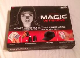 Magic on the Move Magicians Set With DVD. Street Magic. Complete And VGC.