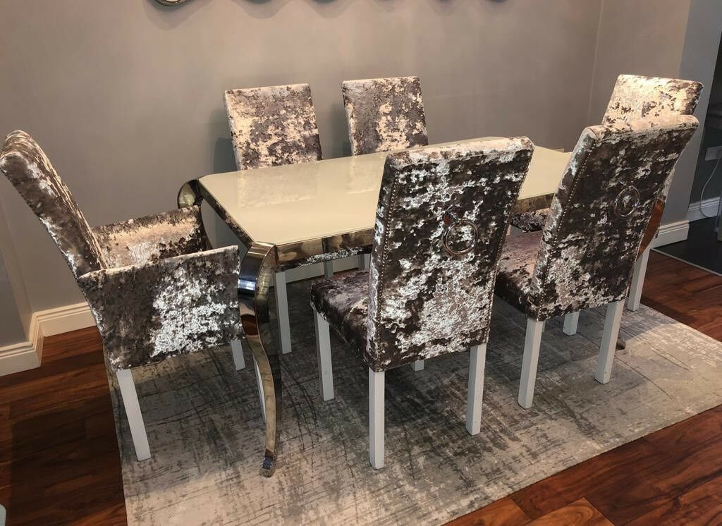 DINING TABLE 6 CHAIRS Belfast