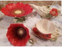 Franz collection poppy teaset 5pieces