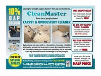 CLEAN MASTER CARPET UPHOLSTERY CLEANING SERVICES HULL