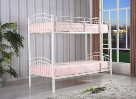 New cream metal bunks beds free delivery
