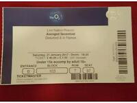 Avenged Sevenfold ticket 21 January London O2 2017