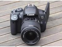 Canon 700D DSLR with FREE Tripod, protective sleeve & case