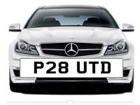 P28 UTD. Private Registration for sale. ideal for man united fan