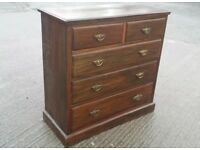 Vintage Edwardian 2 over 3 Mahogany Chest of Drawers