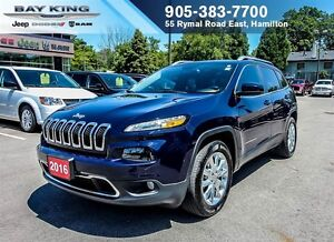 "2016 Jeep Cherokee LIMITED 4X4, NAVI, BLUETOOTH, 8.4"" DISPLAY, B"