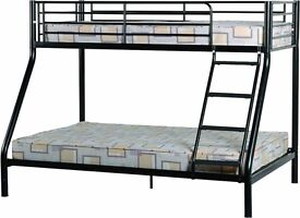 New black metal bunks beds free delivery