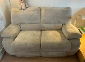 2 Seater Sofa- La Z Boy: one fixed, one recliner