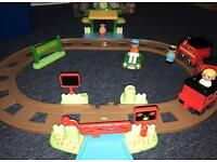 Happy land mothercare ELC jumbo train track with figures & vehicles