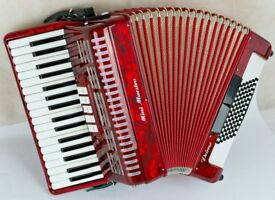 Mini Maestro - Primo 72 Bass Accordion with New Magnetic MIDI - Good Quality - Super Light Weight