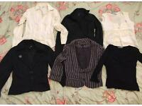 Ladies size 8 work wear bundle tops/Jackets 6 items