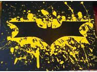 Large canvas batman logo painting