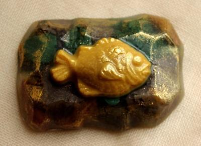 Handmade Soap FISH ON THE STONE - Luxury, Great Gift, Ideal Bathroom Accessory.