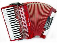 Italian Primo Piano Accordion with MIDI - 72 Bass - 3 Voice - Magnetic MIDI - Light Weight